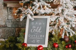 "Looking for Winter Baby Shower Ideas? Click to see decorations for girl or boy showers, invitation ideas, food, centerpieces, table decor, cake and more. Lots of fun ideas for a ""Baby it's cold outside"" theme, or a Winter Wonderland Theme. Pin it. #winterbabyshower #babyitscoldoutside"