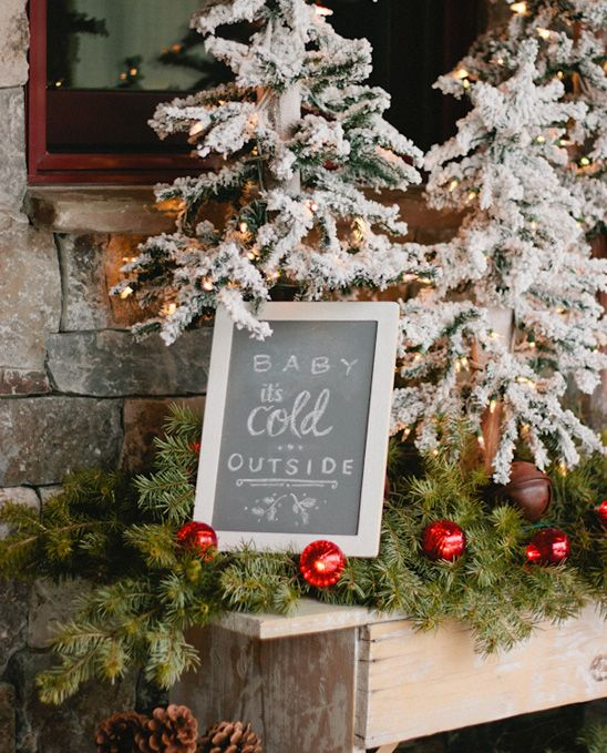 """Looking for Winter Baby Shower Ideas? Click to see decorations for girl or boy showers, invitation ideas, food, centerpieces, table decor, cake and more. Lots of fun ideas for a """"Baby it's cold outside"""" theme, or a Winter Wonderland Theme. Pin it. #winterbabyshower #babyitscoldoutside"""