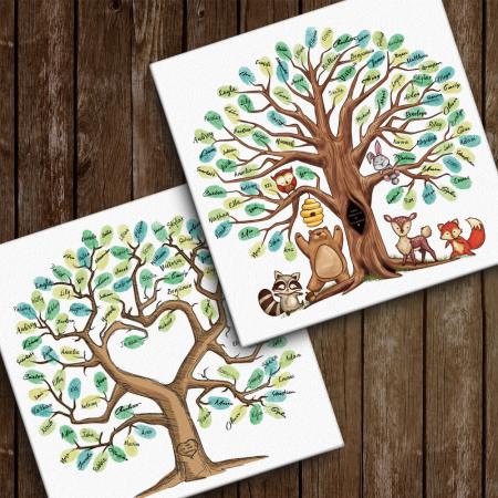 fingerprint tree canvas
