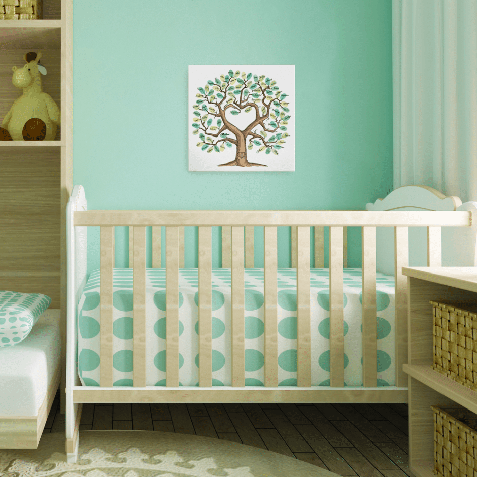 Baby shower / wedding fingerprint tree. Looking for a great baby shower guest book alternative. Click to see tons of unique ideas that will knock their socks off. Some ideas are easy DIY, some are kind of rustic. Pin it. #babyshower #guestbook