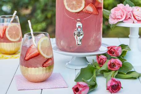 Pink punch recipes are delicious and colorful. Prepare them for birthday party or for baby shower celebrations. You can make them nonalcoholic for kids, with ice cream, with sherbet, and with alcohol too. Included is a recipe for pink punch with pineapple juice, strawberry, and more. #pinkpunch #refreshments