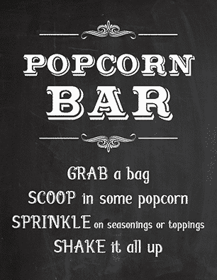 image about Popcorn Sign Printable titled No cost Printable Popcorn Indication Recommendations - Tulamama