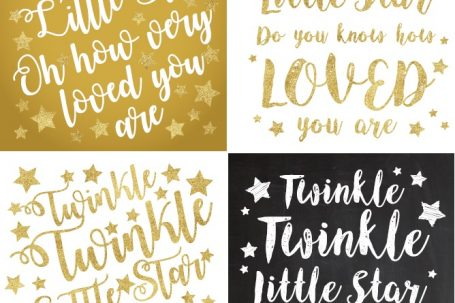FREE & Instant download - Twinkle twinkle little star theme printables and posters to create your own DIY decorations. Lots of different designs to choose from, including chalkboard signs. Easy to print from home. Use it as wall art, banners, etc. Perfect for showers, preschool birthday parties, etc. This is a gender neutral theme so you can use it for boys or girls. Also available for Twinkle twinkle little star gender reveal parties. Pin it. #babyshower #freedownloads #freeprintables