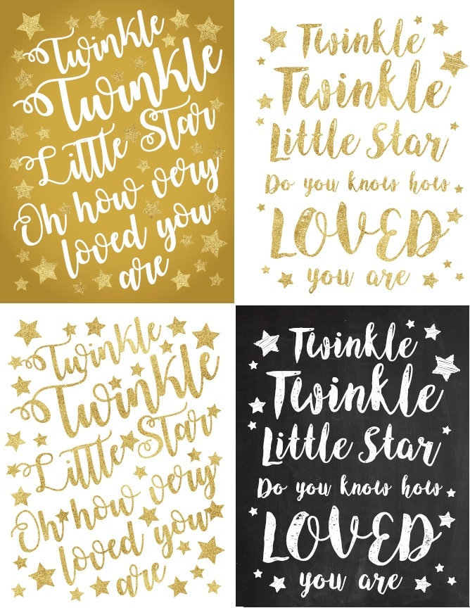 Twinkle twinkle little star theme posters free and instant download