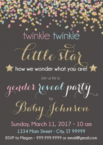 Twinkle Twinkle Little Star - This is a great theme for a girl, boy, neutral or gender reveal baby shower. Click to find great ideas for your invitations, decorations, centerpieces, cake, favors, food, backdrops, printables and more. Pin it. #twinkletwinklelittlestar #babyshower