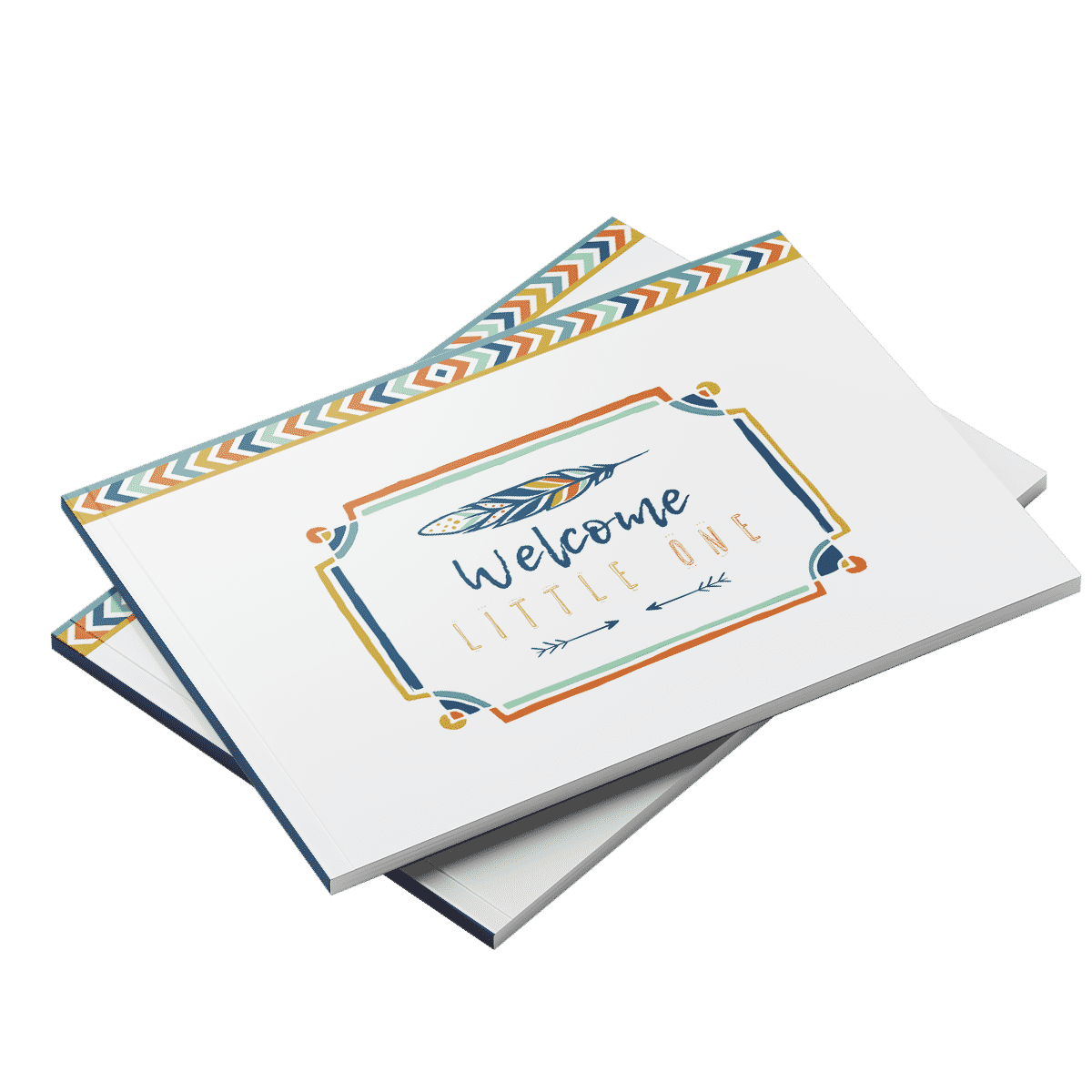 Bohemian boho baby shower guest book aztec neutral theme