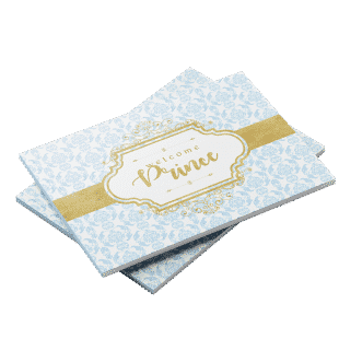 Prince theme baby shower guest book Blue