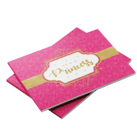 Princess theme baby shower guest book Pink