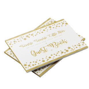 Twinkle twinkle little star baby shower guest book