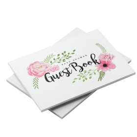 flowers floral baby shower guest book