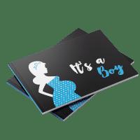 It's a boy baby shower guest book blue
