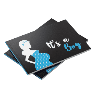 It's a boy baby shower guest book blue