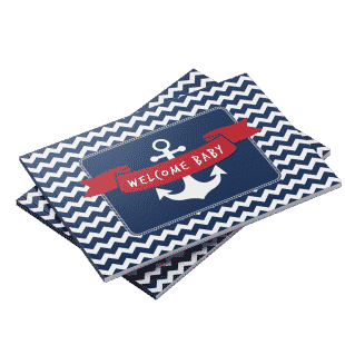 Nautical theme baby shower guest book
