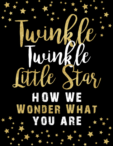 Twinkle Twinkle Little Star gender reveal printable