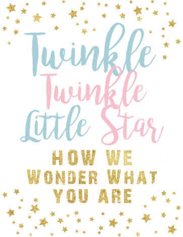 Twinkle Twinkle Little Star gender reveal printables