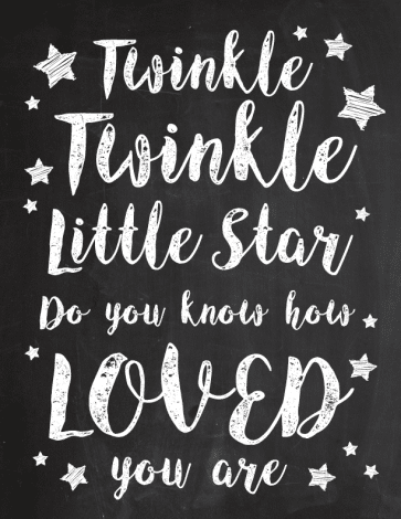 Twinkle Twinkle Little Star printable