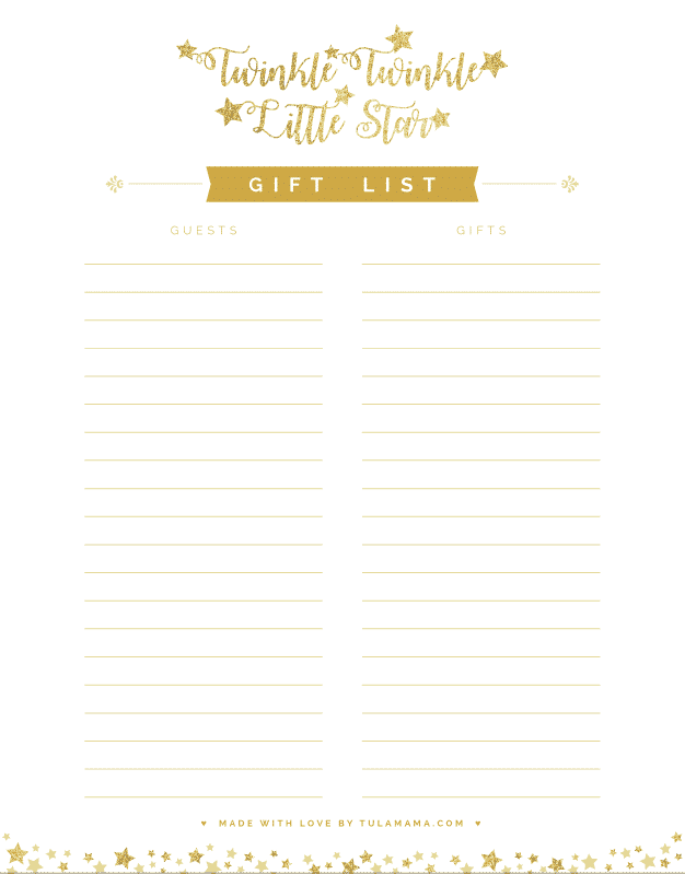 free printable gift tracker for any occasion