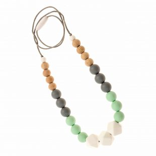 Tulamama Silicone Teething Necklace for Mom to Wear - Offers Teething Relief and Nursing Distraction for Baby - BPA Free, Made in FDA Registered Facility with Food Grade Silicone. Use as a Nursing or Breastfeeding Necklace.