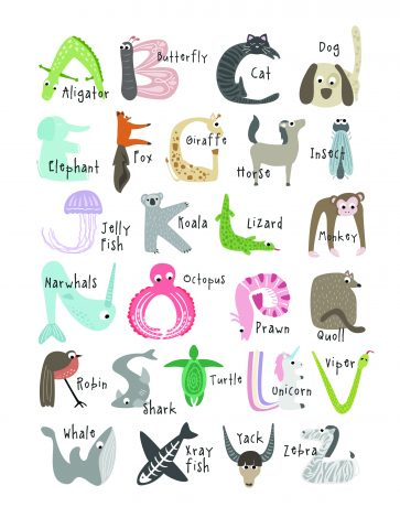 image regarding Animal Printable titled Totally free, Lovable And Enlightening Animal Alphabet Printables - Tulamama