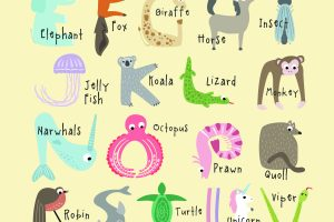 Free Printable - Animal Alphabet. These are super cute and they're great for your nursery, for preschool, art and crafts for kids, and more. Pin It. #animalalphabet #freeprintables