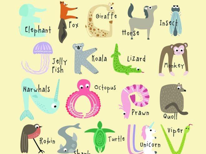 Free Cute And Educational Animal Alphabet Printables Tulamama