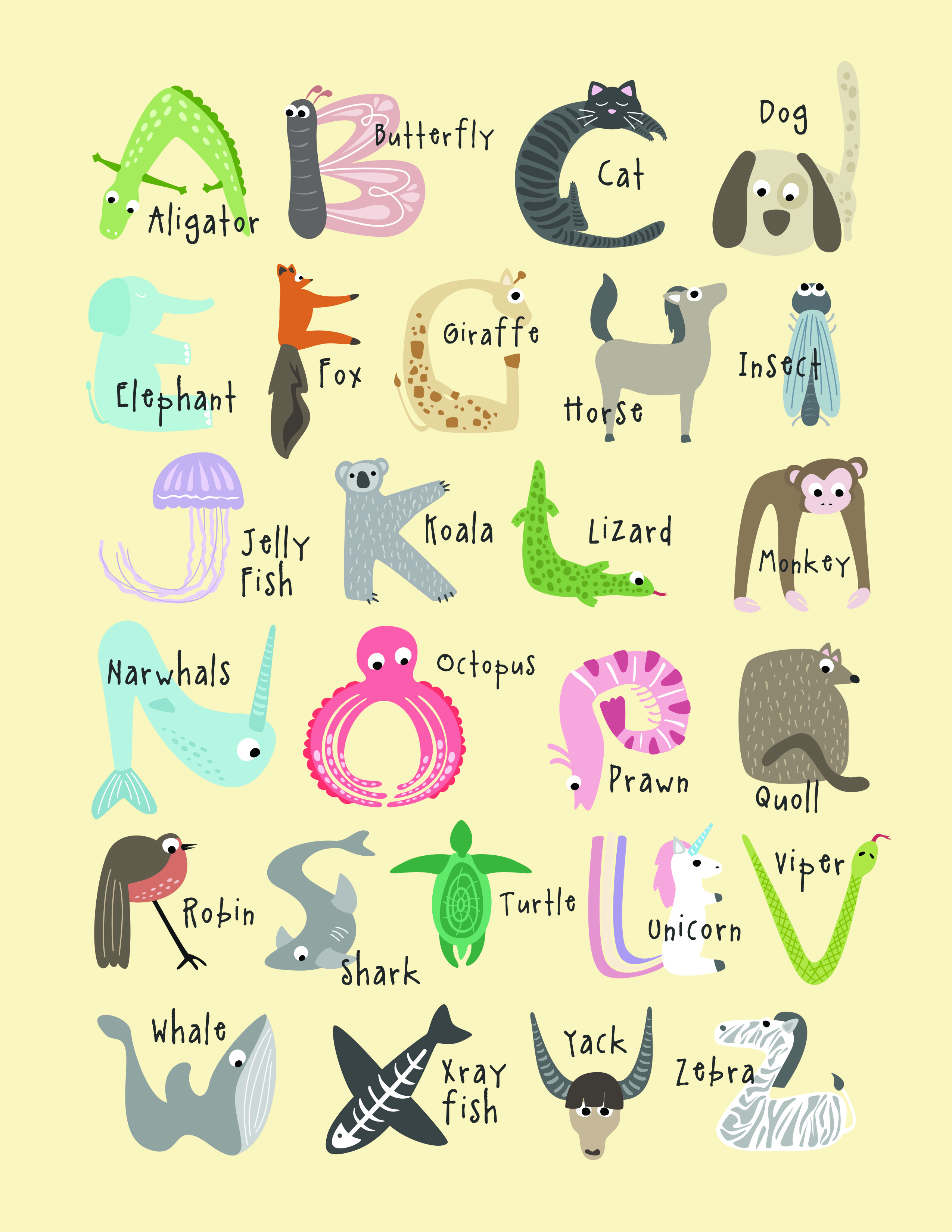 photograph about Animal Printable identified as Absolutely free, Lovely And Instructive Animal Alphabet Printables - Tulamama