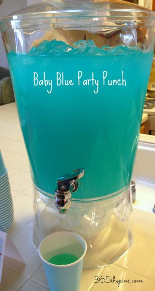 baby shower blue punch recipes