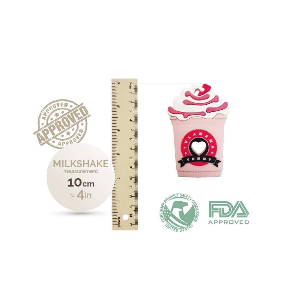Starbucks Strawberry Frappe Milkshake silicone baby teether