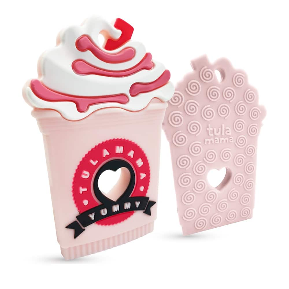 Starbucks Strawberry Frappe Milkshake silicone baby teether baby teething toys