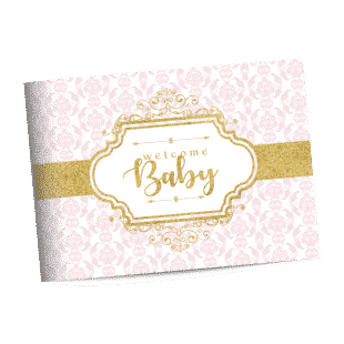 Royal princess baby shower guest book