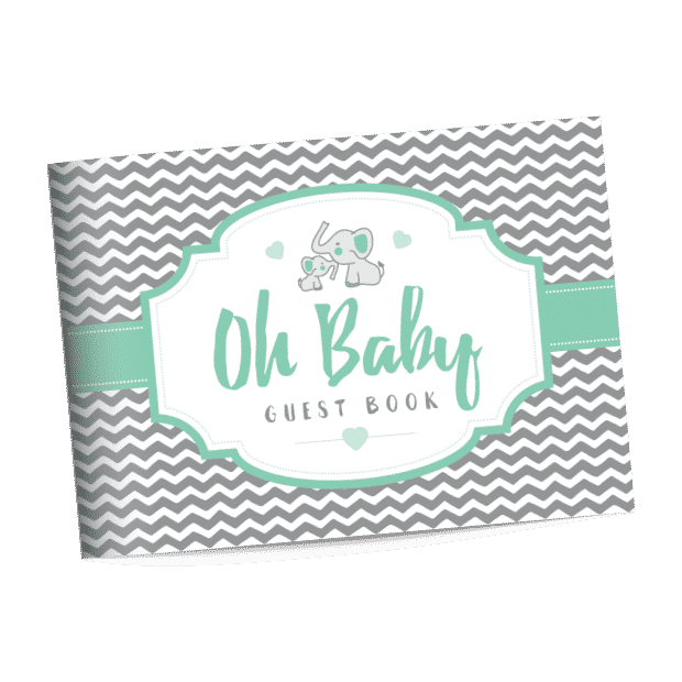 elephant baby shower guest book