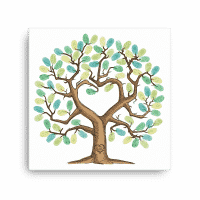 Thumbprint tree / fingerprint tree canvas - a unique guest book alternative. Use it as a wedding fingerprint tree or a baby shower fingerprint tree.