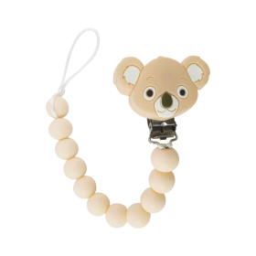 Tulamama's Pacifier Clip for Boys & Girls, Fits Avent Soothie, Mam, Nuk and all other Pacifiers, Teething Toys and more. Made of Food Grade Silicone & Passed by CPSC Mom and baby approved. It is also a teething toy