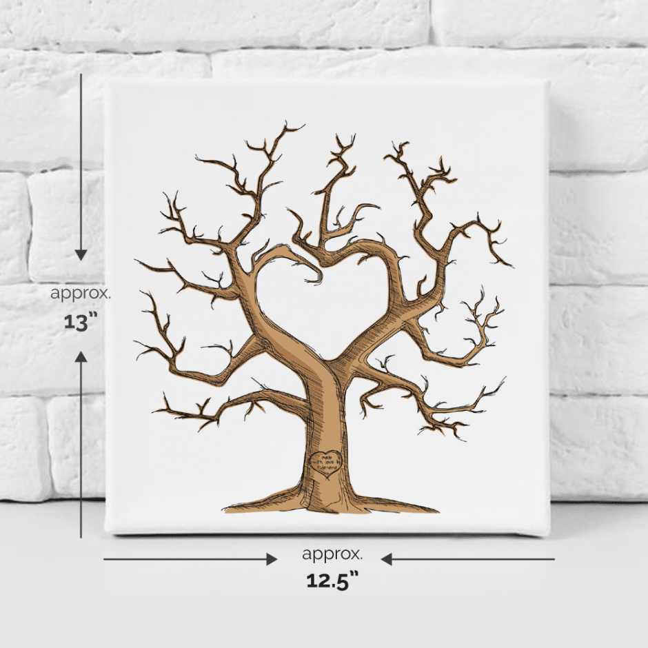 Baby shower / wedding fingerprint tree