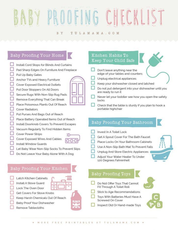 Tulamama Baby Proofing Checklist
