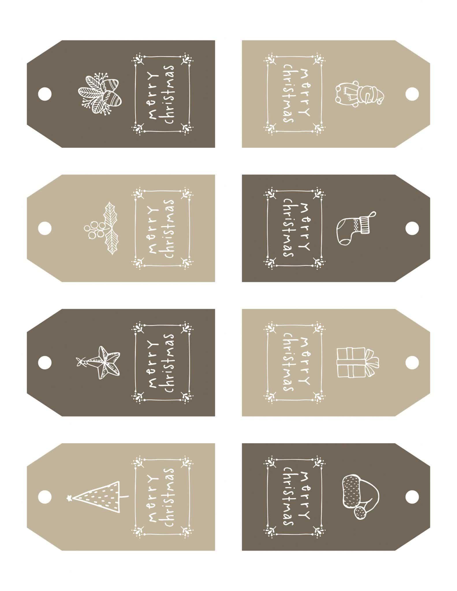 Christmas gift tags free printables