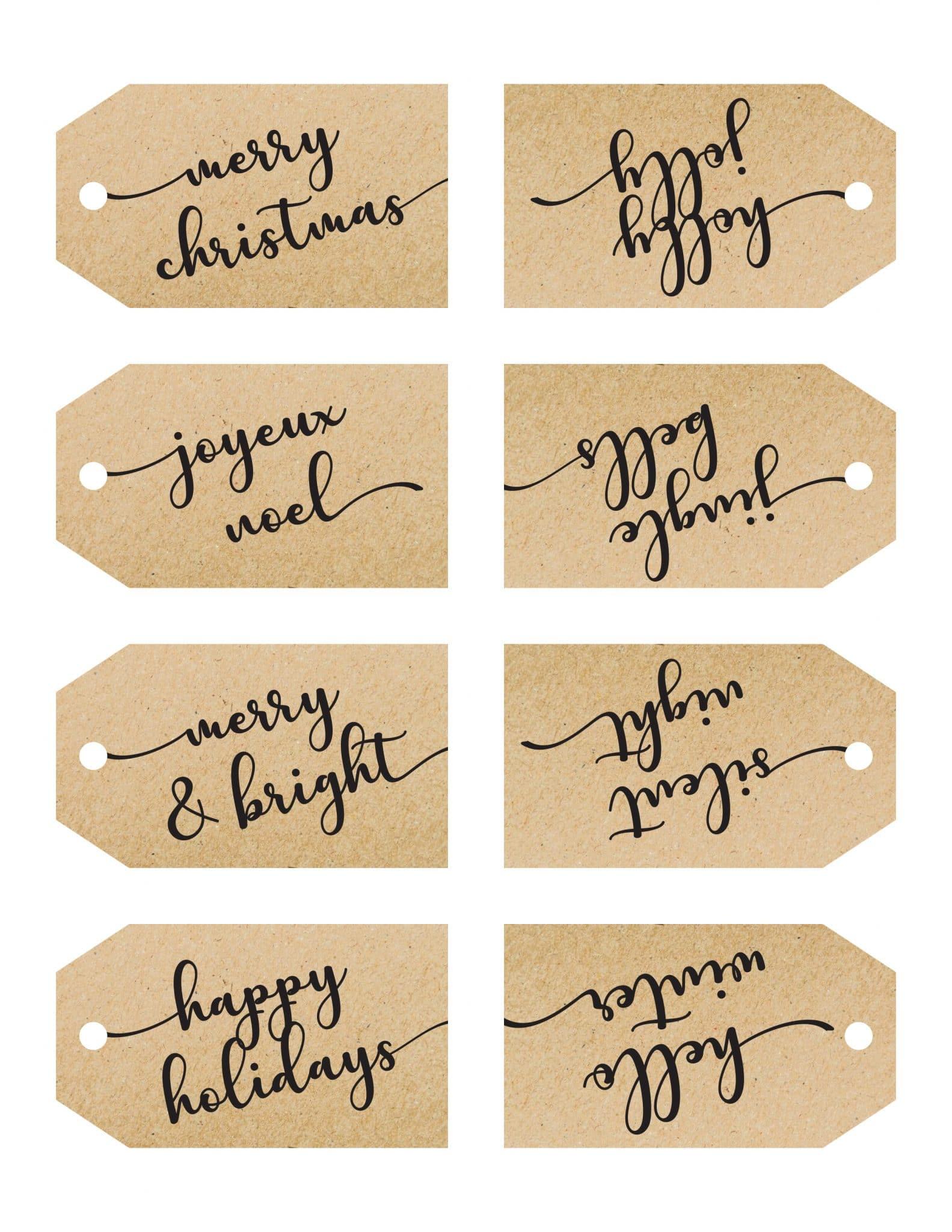 Gift tags Christmas Printables Free