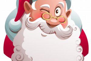 santa face clipart