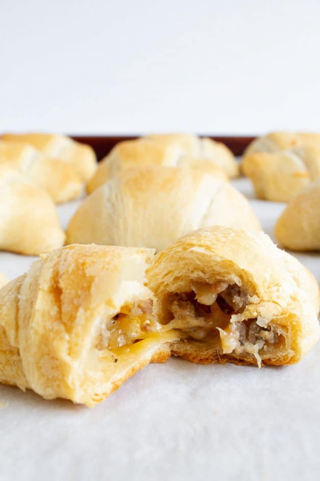 sausage breakfast croissants