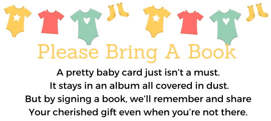 Please bring a book instead of a card free printable neutral design