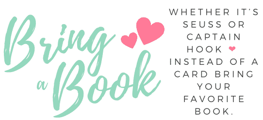 Please bring a book instead of a card free printable neutral design green with hearts