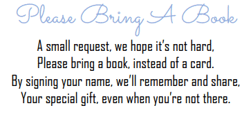 Please bring a book instead of a card free printable baby boy blue design