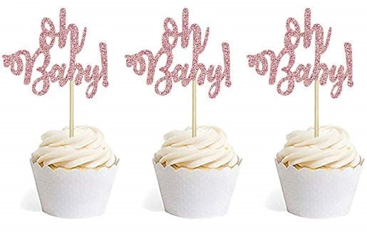 cupcake toppers for baby shower cupcakes