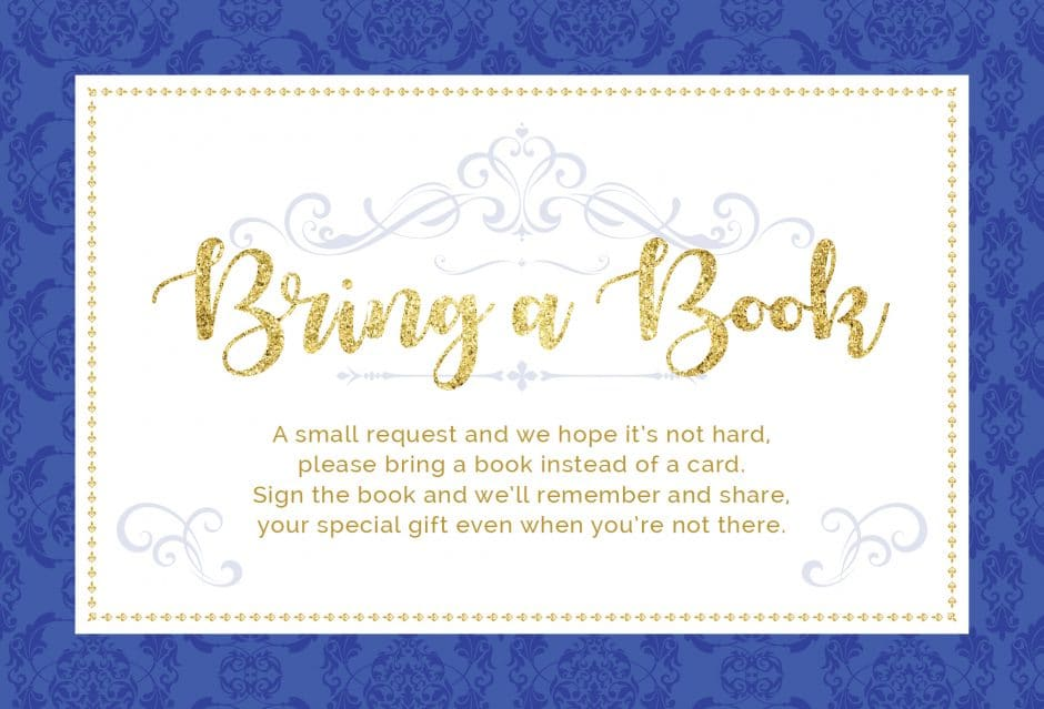 please bring a book instead of a card printable prince