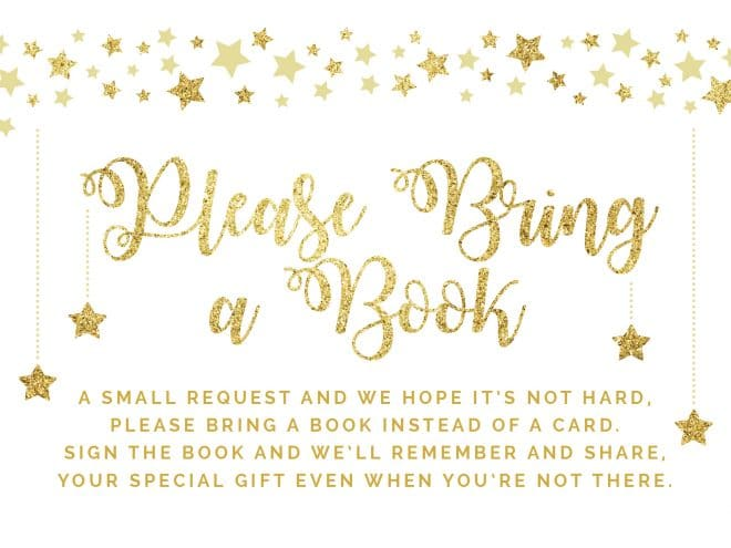 bring a book instead of a card printable twinkle twinkle little star