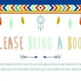 bring a book instead of a card printable free boho aztec arrow