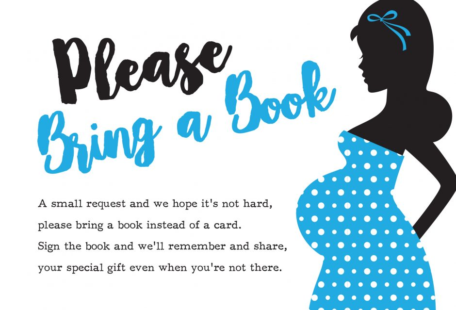 please bring a book instead of a card free printable ready to pop boy blue