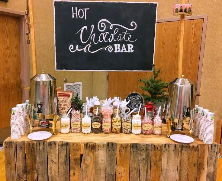 Hot chocolate bar baby shower ideas