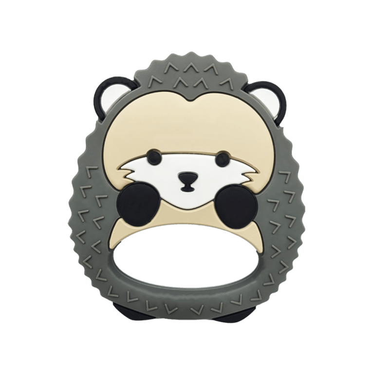 hedgehog silicone teether for babies