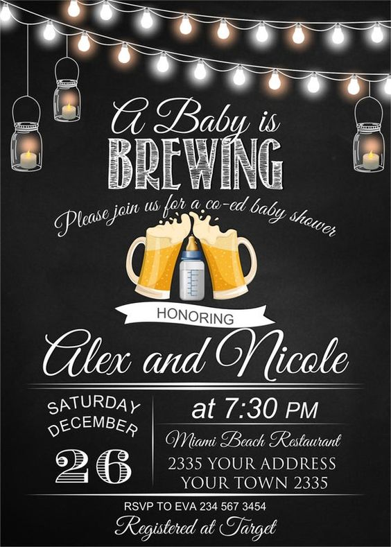 a baby is brewing baby shower ideas